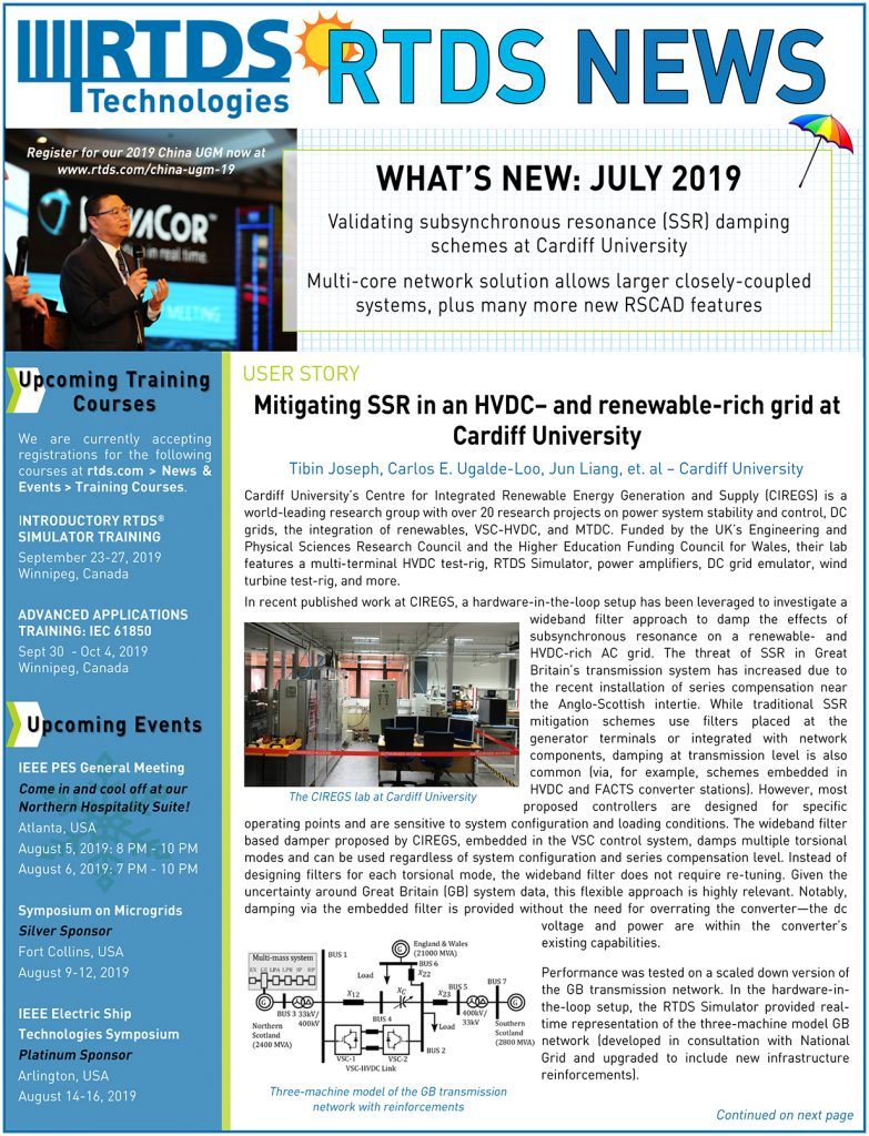 RTDS News July 2019
